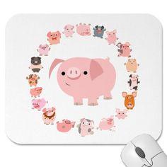 Pig Mandala mousepad