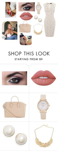 """""""saturday"""" by mercycouturela on Polyvore featuring Alexander McQueen, Lime Crime, Givenchy and Kate Spade"""