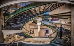 The main architectural feature in Rome Cavalieri, the central staircase, took shape in 1963.