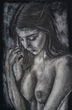 Tableau de Sable Nu Féminin, 20x30 cm sur panneau de bois  #sandart #tableaudesable #portraitsable #sand #sandartist #nudeart #nudedrawing #portraitart
