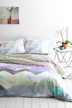 I really really love this. Magical Thinking Cosmic Chevron Duvet Cover