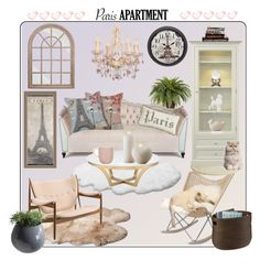 Paris Apartment by lemon-limelight on Polyvore Interior Decorating, Interior Design, Paris Apartments, Gallery Wall, Ugg Australia, Polyvore, Lemon, House, Interiors