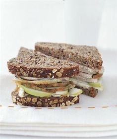 Turkey Sandwiches With Apple and Walnut Mayo   Transform your Thanksgiving leftovers with these inventive roast turkey sandwich ideas.