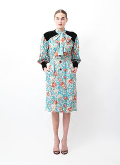 Saint Laurent | Vintage Floral Dress | RESEE