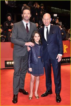 Hugh Jackman, Patrick Stewart and Dafne Keen