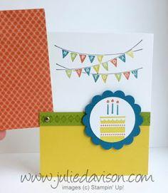Julie's Stamping Spot -- Stampin' Up! Project Ideas by Julie Davison: Patterned Party Flip Up Card