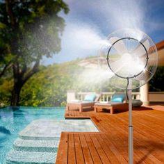 diy Misting fan | Misting fan, Outdoor misting fan, Floor fan