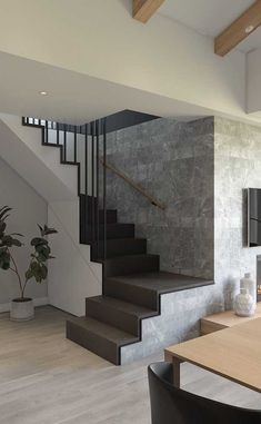 Inventive Staircase Design Tips for the Home – Voyage Afield Bungalow Haus Design, Duplex House Design, House Front Design, Small House Design, Home Stairs Design, Interior Stairs, Home Room Design, Dream Home Design, Staircase Design Modern