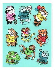 Hallmark Shirt Tales Sticker Sheet Vintage by CollectorsWarehouse