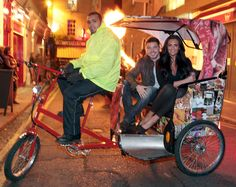 Race through the streets in a rickshaw