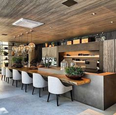 Modern Kitchen Interior kitchen inspirations - Tips for traveling on a budget from a girl who travels a lot on a budget! Modern Kitchen Design, Room Interior, Interior Design Living Room, Modern Outdoor Kitchen, Outdoor Kitchen Bars, Kitchen Contemporary, Outdoor Cooking Area, Modern Home Bar, Industrial Kitchen Design