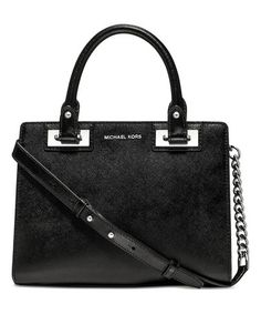 This Black Quinn Small Patent Saffiano Leather Satchel is perfect! #zulilyfinds