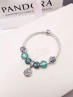 50% OFF!!! $199 Pandora Charm Bracelet Green. Hot Sale!!! SKU: CB02011 - PANDORA Bracelet Ideas