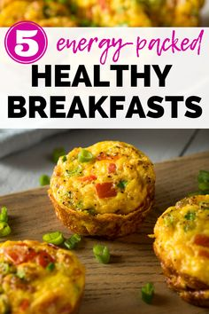 These 5 healthy breakfast ideas are just what you need to start the morning right!  Whether you're looking for a healthy on the go breakfast or something to leisurely bake at home, you'll find great breakfasts for energy in this post. Healthy Family Meals, Good Healthy Recipes, Nutritious Meals, Healthy Breakfast Options, Breakfast Ideas, Diabetic Friendly, Some Recipe, Baking, Eat