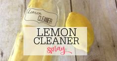 Tired of the smell of vinegar? Try this easy to make lemon vinegar cleaner. It smells like lemons and will do a great job of cleaning.