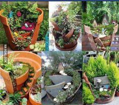 Garden crafts.