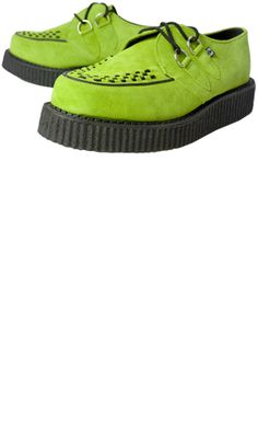 Digging the green suede creepers  $65.00