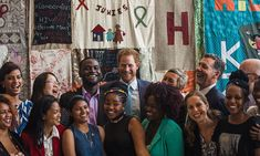 Princess Charlotte's uncle posed for a picture at the 2016 International AIDS Conference in Durban.