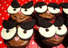 vegan chocolate peanutbutter oreo owl cupcakes by bambi bake em up