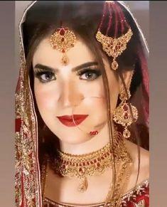 Pakistani Bridal Makeup Hairstyles, Beautiful Pakistani Dresses, Bridal Pictures, Brides, Hair Makeup, Fashion Dresses, Princess Zelda, Stylish, Hair Styles