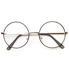 Vintage Lennon Inspired Clear Lens Round Frame Glasses 9222 from zeroUV