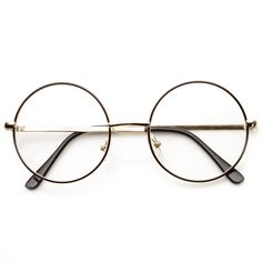 Vintage Lennon Inspired Clear Lens Round Frame Glasses 9222 from zeroUV