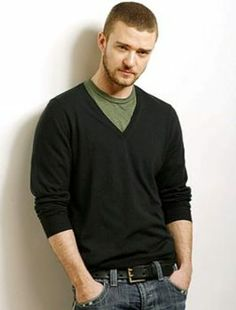 Layering a Colored Tee with a V-neck Sweater