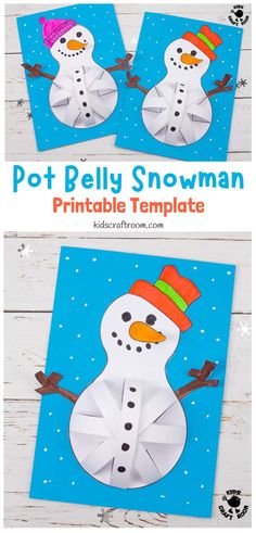 These 3D Paper Snowman Crafts are so cute. Who could resist their round pot bellies and big smiles! Great as a Winter or Christmas craft. Easy to make with the printable snowman template. #kidscraftroom #kidscrafts #snowman #snowmancrafts #wintercrafts #christmascrafts Paper Crafts For Kids, Crafts For Kids To Make, Christmas Crafts For Kids, Holiday Crafts, Christmas Tree, Printable Crafts, Printable Paper, Free Printable, Snowman Crafts