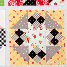 Fat Quarter Shop's Jolly Jabber: Back to School with Pam Kitty: Row 3