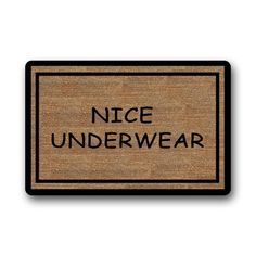 Shirley's Door Mats Funny Doormats Nice Underwear Custom Rectangle Entryways Non Slip Indoor/Outdoor Doormat Floor ** You can find out more details at the link of the image. (This is an affiliate link) Outdoor Floor Mats, Indoor Outdoor, Funny Doormats, Neoprene Rubber, Print Poster, Underwear, Canvas Prints, Flooring, Rugs