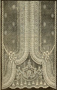 Details: Vintage Ephemera: Nottingham Lace Curtain, 1912