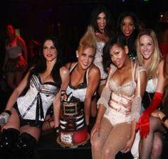 Burlesque themed bachelorette party