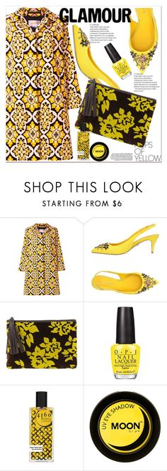 """""""Get Happy: Pops of Yellow"""" by selmir ❤ liked on Polyvore featuring La DoubleJ, Le Silla, Mary Katrantzou, polyvoreeditorial, polyvorefashion, polyvoreset, PopsOfYellow and NYFWYellow"""