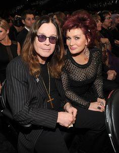Ozzy & Sharon Osbourne from 2014 Grammy Awards: Hottest Couples! Kelly Osbourne, Ozzy Osbourne, Ozzy And Sharon Osbourne, Famous Couples, Hot Couples, Celebrity Couples, Celebrity News, Black Sabbath, Famous Duos