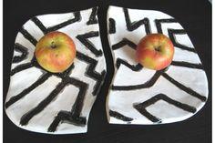 Plate Geometric combination - Handmade from Santinart Interior Decorating, Peach, Plates, Ceramics, Unique, Handmade, Licence Plates, Ceramica, Dishes