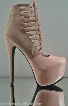 JCD Privileged Denmark Pink Blush Ankle Platform Boots Sky High Heel Shoe 7 11 | eBay