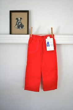 vintage child's pants  BOXER JEANS dungaree jeans nos / by MsTips, $14.00