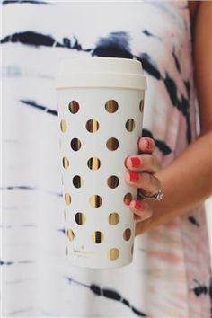 Kate Spade Gold Dots Insulated Mug – UOIOnline.com: Womens Clothing Boutique