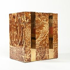 Vintage Italian Faux-Bois Box $1,895 - Available @ Cavalier by Jay Jeffers #cavalier #cavaliergoods #vintage #italian #box #brass