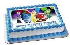 Inside Out Anger 2 Edible Birthday Cake OR Cupcake Topper – Edible Prints On Cake (EPOC)