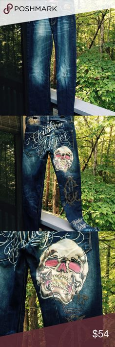 CHRISTIAN AUDIGIER JEANS Christian AUDIGIER, iconic  hip hop jeans. Great pre loved Condition. Christian Audigier Jeans Bootcut