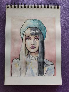 Melanie Martinez Anime, Melanie Martinez Drawings, Cry Baby, Tribal Warrior, Fire Drill, Little Princess, Drawing Sketches, Outline, Watercolor Art