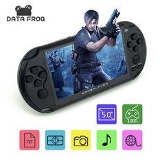 """5.0"""" Large Screen 8GB Portable Handheld Game Consoles Built-in 300 Classic NES Games MP3 MP4 Child Game Console Free Shipping"""