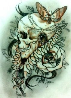 tattoo sketch - Sake not so into skulls but this is really nice Cool Tattoos, Sketches, Tattoos, Skull, Sake Tattoo, Skull Art, Great Tattoos, Animal Tattoo, Tattoo Sketches