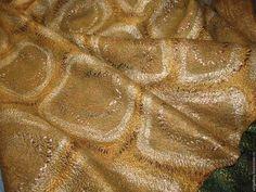 """Купить Двустороннее платье валяное """"Изумрудно-золотое"""" - золотой, зеленый, изумрудный, желтый, горчичный, охра"""