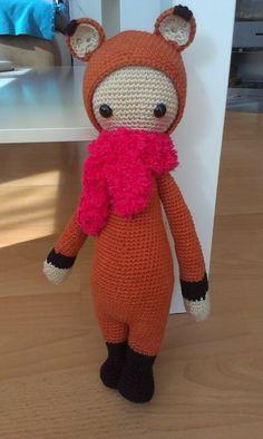 FIBI the fox made by Marianna M.J. / crochet pattern by lalylala