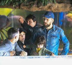 Shakira e Gerard Piqué Levam Milan ao Aquário http://evpo.st/1jawwWE