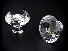 Knob Knobs Glass Knobs Crystal Knob Dresser Knob by LynnsHardware