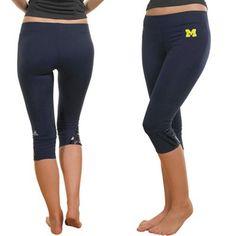 adidas Michigan Wolverines Ladies Navy Blue Training Capri Pants  @Fanatics ® #FanaticsWishList