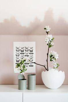 Caisa K -värikartan kesäkuun väri #vaaleanpunainen #x420 #neito #tunnevari #varikartta #sisustus #efektiseina #harmony #peltipurkit #orkidea #maalausidea #tikkurila Wall Paint Colors, Room Colors, Interior Inspiration, Color Inspiration, Interior Ideas, Pink Walls, Ombre Walls, Dream Bedroom, Interior And Exterior